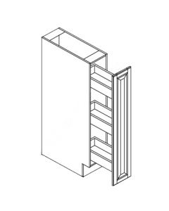 Spice Rack Pull Out Cabinets-Shaker White